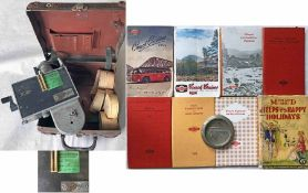 Box of Midland Red items comprising a Setright TICKET MACHINE, casing no 001, no serial no, with
