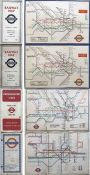 Selection (4) of London Underground diagrammatic card POCKET MAPS by Beck comprising 2 x No 2, 1934,