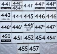 Quantity (22) of London Transport bus stop enamel E-PLATES, all from the southern Country Area and