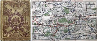 1901 District Railway Map of London, 6th edition. This is the very uncommon 2nd version. It shows