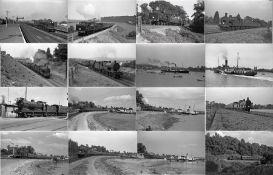 Quantity (c100) of 1940s/50s b&w STEAM RAILWAY NEGATIVES (120-size, 9cm x 6cm) taken by the