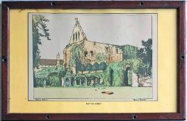 Southern Railway CARRIAGE PRINT 'Battle Abbey' by Donald Maxwell from the original SR series