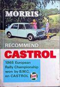1965 Castrol Oils & BMC SHOWROOM POSTER 'Morris recommend Castrol. 1965 European Rally