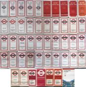 Large quantity (47) of 1930s-70s (one from 1994) London Transport Central Buses POCKET MAPS. Most
