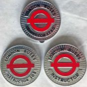 Selection (3) of London Transport Buses 1980s WALLET MEDALLIONS as issued to senior staff for