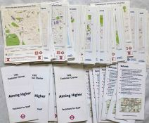 Large quantity (150+) of 2002 Transport for London 'CONTINUING YOUR JOURNEY' LEAFLETS sorted