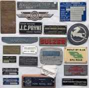 Quantity (28) of vehicle BODYPLATES, alloy and plastic, from a wide range of manufacturers including