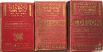 3 x 1917-20s issues of the MOTOR TRANSPORT YEAR-BOOK & DIRECTORY, the 'bible' of the bus industry,