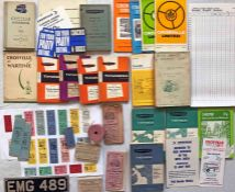 Box of Crosville Motor Services 1940s onwards EPHEMERA including timetable booklets, unused ticket