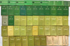 Quantity (49) of 1940s-60s London Transport TIMETABLE BOOKLETS comprising 21 Green Line 1940s-60s