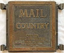 1920s bronze 'CUTLER' MAIL-CHUTE COVER 'Mail - Country', very probably from 55 Broadway, the