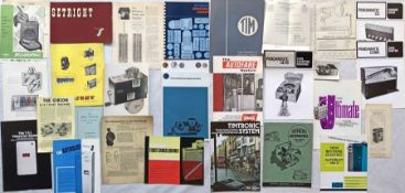 Quantity (27) of TICKET MACHINE etc BROCHURES & PUBLICITY MATERIAL dating from the 1930s to 1970s.