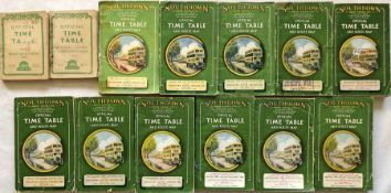 Selection (13) of 1940s-50s Southdown Motor Services TIMETABLE BOOKLETS, all different. Some cover