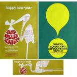 Selection (3) of 1960s/70s BUS POSTERS comprising 2 x January 1972 Aldershot & District and Thames