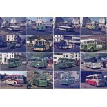 Large quantity (185) of 35mm Channel Islands (Jersey & Guernsey) bus & coach COLOUR SLIDES, all