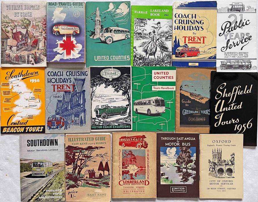 Quantity (17) of 1930s-60s COACH EXCURSION AND HOLIDAYS etc BOOKLETS including issues by United