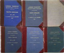 Selection (6) of 1940s-60s officially-bound volumes of London Transport Country Buses & Coaches