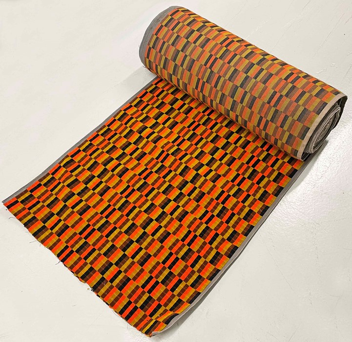 20 metres + of half-width (1m) London Transport SEAT MOQUETTE designed by Misha Black and used on