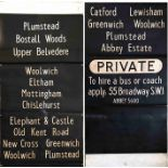 London Transport RT bus DESTINATION BLIND from Abbey Wood garage dated 21.3.66 and coded 'B' for the