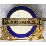 London Transport Central Buses Divisional Mechanical Inspectors' CAP BADGE. An example from the
