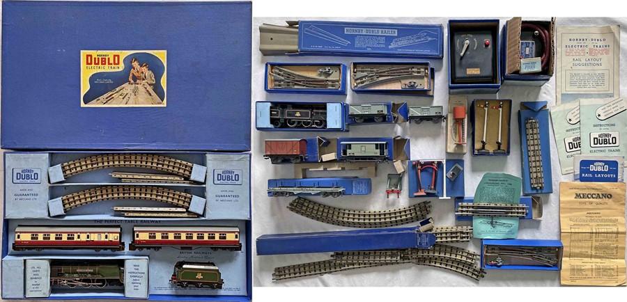 1950s Hornby-Dublo OO-gauge, electric, 3-rail PASSENGER SET EDP 12 with BR(LMR) loco 'Duchess of