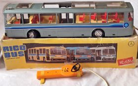 1970s Rico (France) large-scale MERCEDES-BENZ SINGLE-DECK MODEL BUS with battery-operated, cable