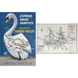 1960s double-crown COACH POSTER 'Express Services through the Thames Valley' by Derrick Sayer (