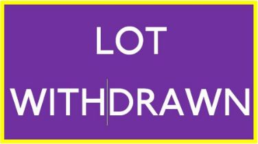 LOT WITHDRAWN. Will be re-listed in our next sale.