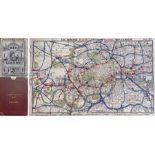 1884 'Improved' District Railway MAP OF LONDON, 3rd edition. A very early Underground map showing