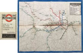 1919 London Underground MAP OF THE ELECTRIC RAILWAYS OF LONDON 'What to See & How to Travel' with