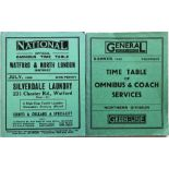 Pair of 1920s/30s National/General Country Services, Northern Division TIMETABLE BOOKLETS comprising