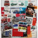 Good quantity (c40) of 1960s lorry & truck MANUFACTURERS' BROCHURES including examples from AEC,
