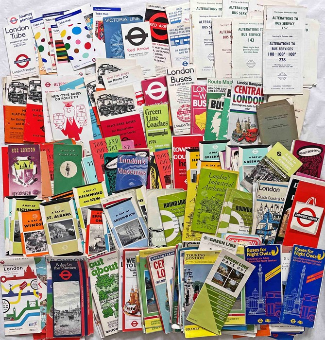 Considerable quantity (300+) of mainly 1960s/70s London Transport etc LEAFLETS & PAMPHLETS. Huge