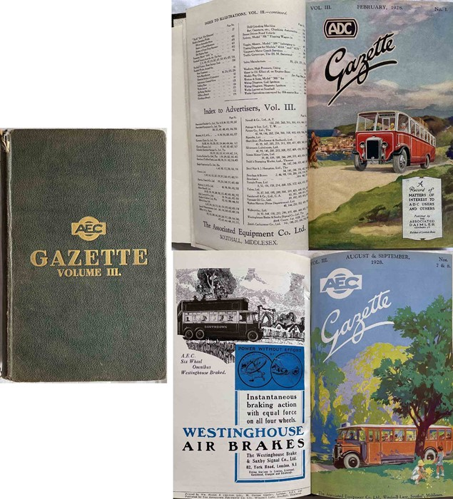 Officially bound volume of the AEC GAZETTE, volume III, February 1928 to January 1929. The first 5