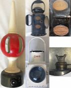 """Great Western Railway (GWR) items (3) comprising a 24"""" (61cm) cast-iron SIGNAL FINIAL (home),"""