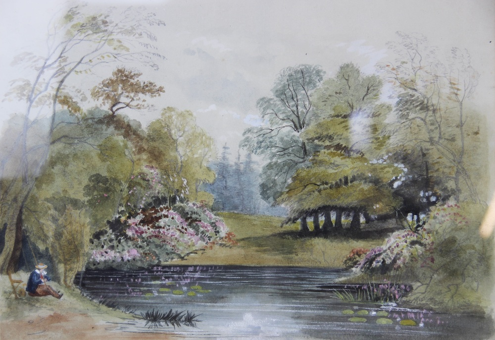 Follower of Peter De Wint (1784-1849), 'Near Lincoln', Watercolour on paper, Unsigned, 27cm x 43. - Image 3 of 9