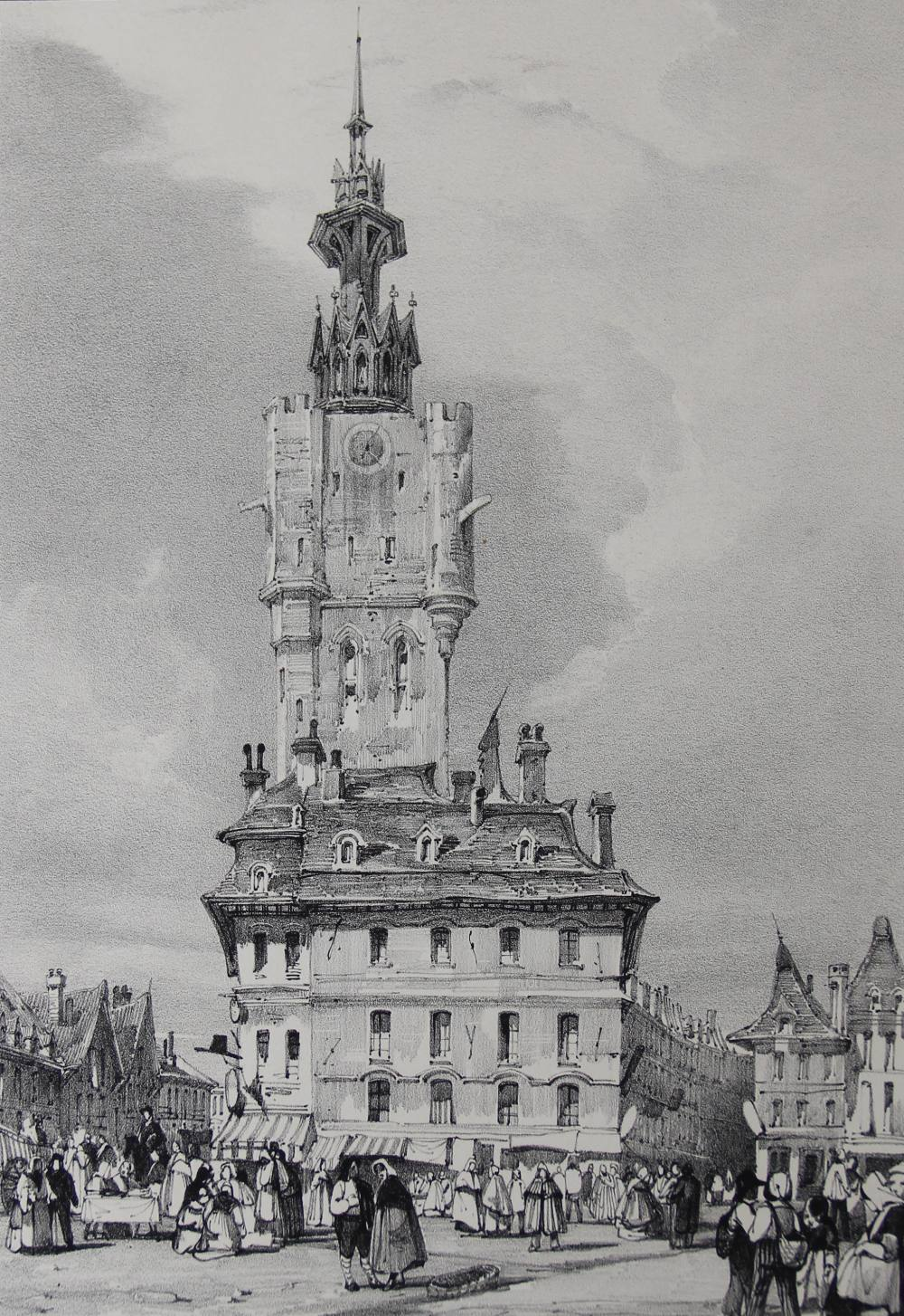 After Thomas Shotter Boys (1803-1874), Eight views of French cities, comprising: 'The Porch Of - Image 7 of 30