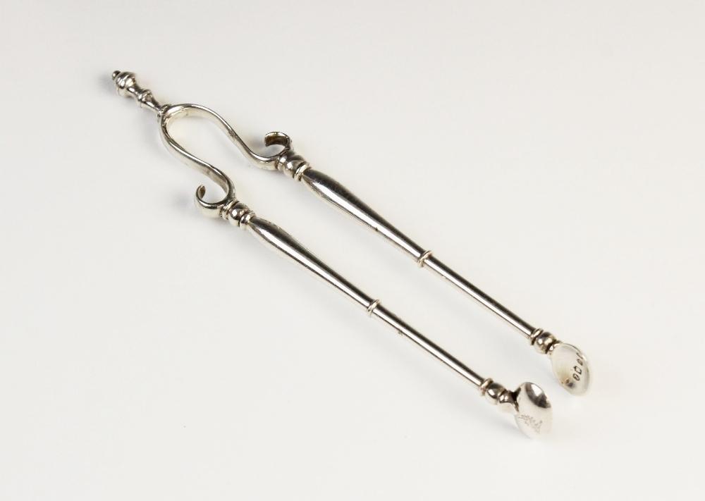 A pair of unusual Victorian Scottish silver sugar nips by Charles Robb & Sons, Edinburgh 1856,