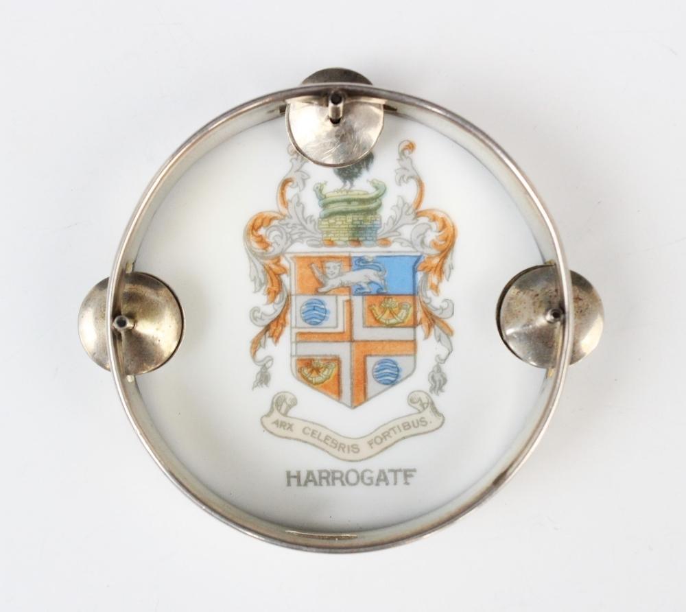 An Edwardian novelty miniature tambourine by William Hair Haseler, Birmingham 1907, of circular form