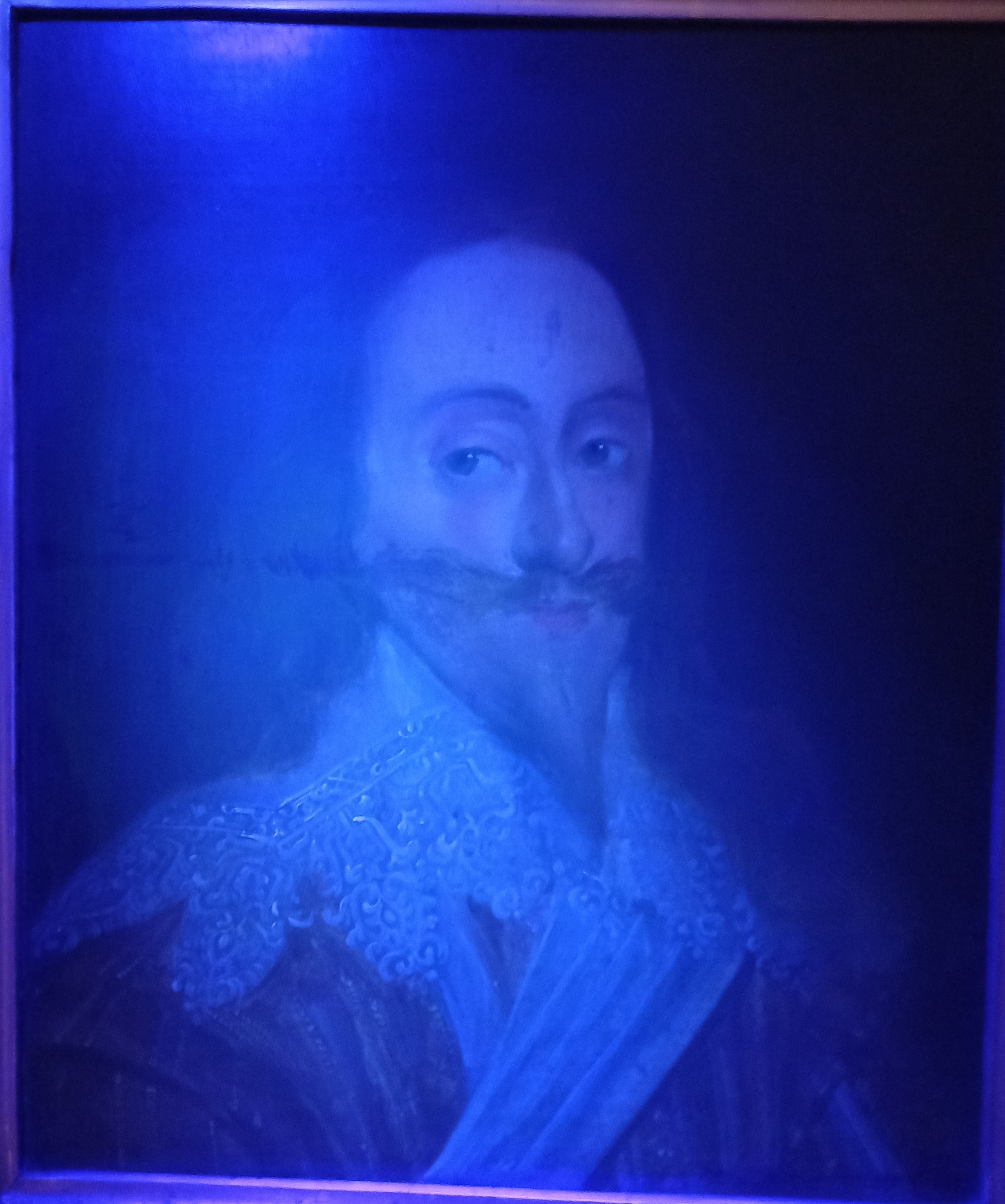 Manner of Daniel Mytens (1590-1647), Portrait of Charles I Head and shoulders wearing a lace - Image 6 of 10