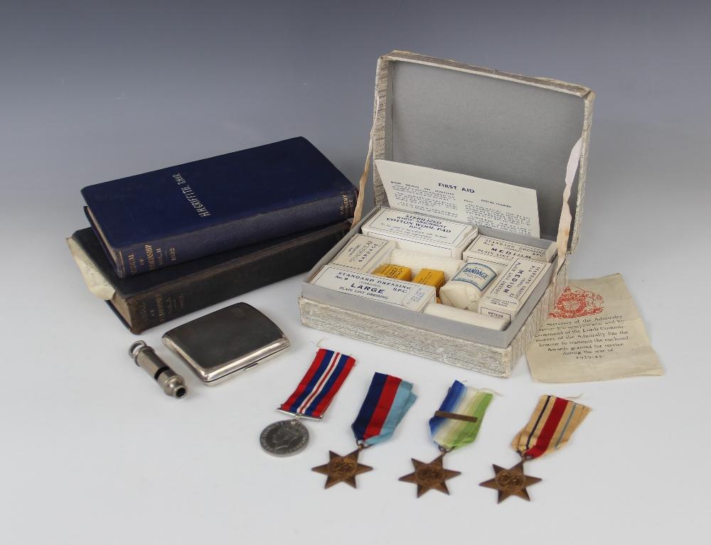 A World War II quartet to Huw Heddwyn Griffith R.N., comprising: the War Medal 1939-45, the 1939-