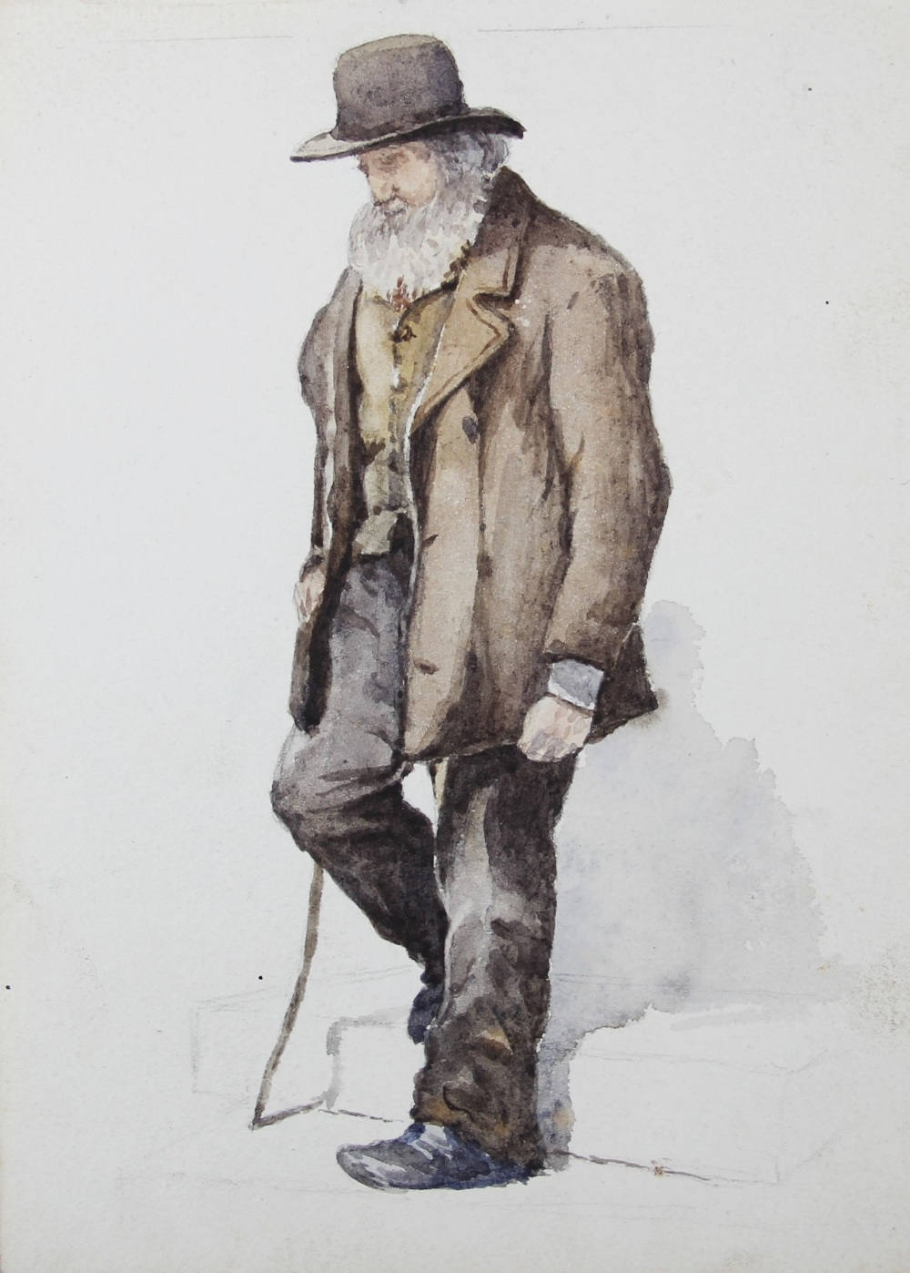 A collection of watercolours, pen and ink sketches and pencil sketches, early 20th century, loose, - Image 9 of 10