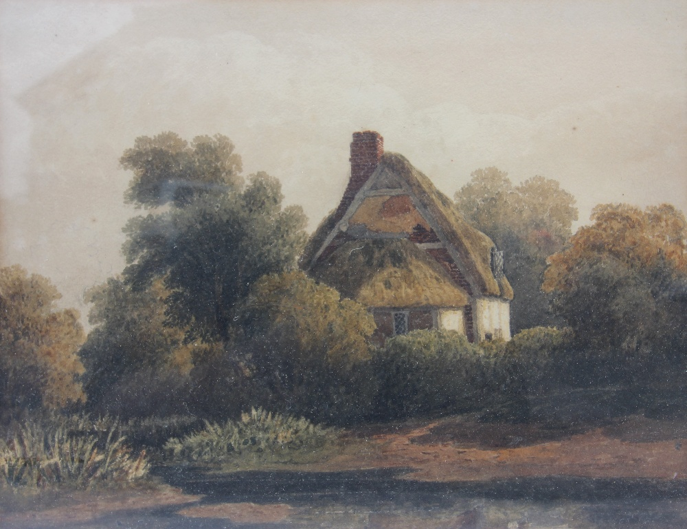 William Callow RWS (1812-1908), View of a rural stream with hills beyond, Watercolour, Signed - Image 6 of 8
