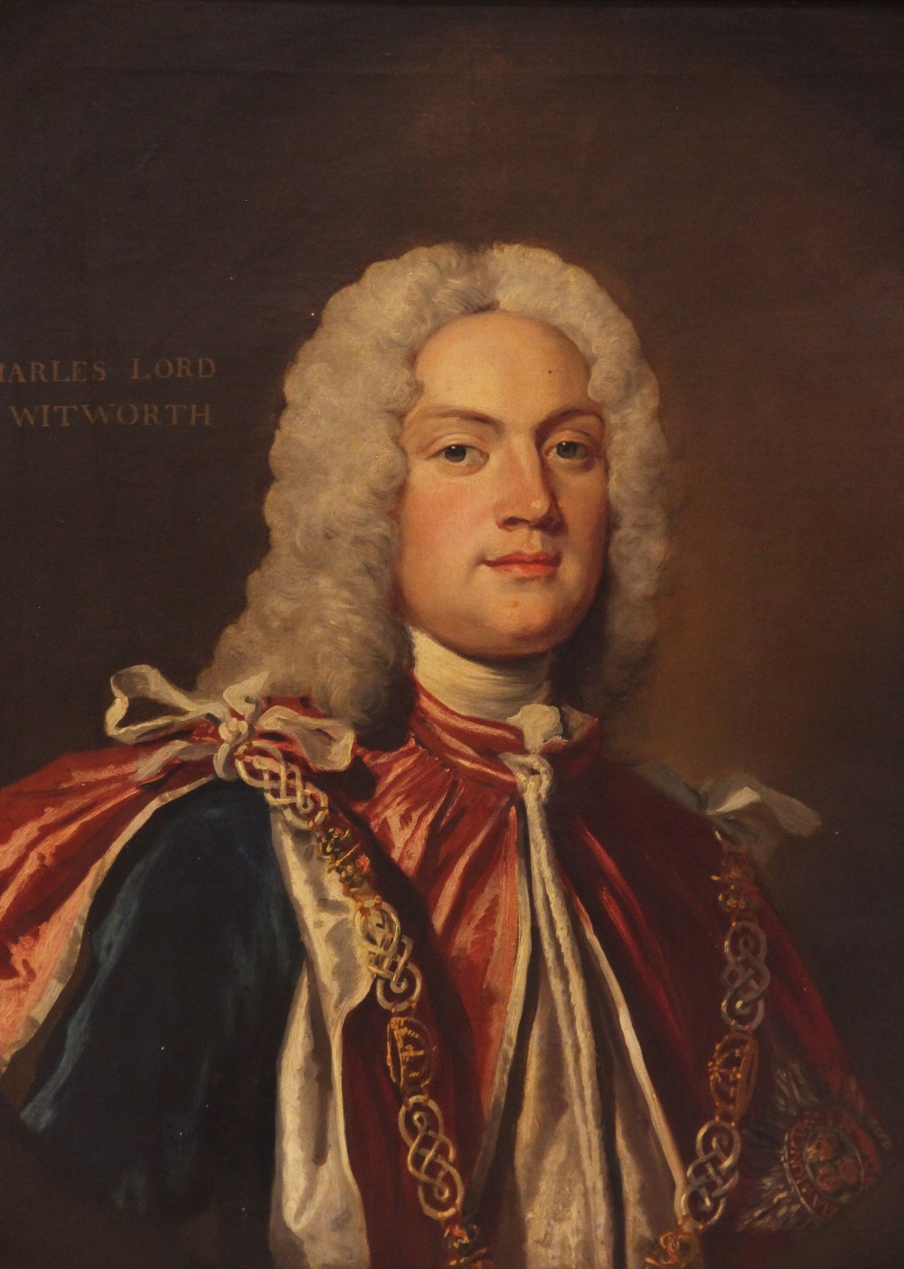 English school, early 18th century, Portrait of Charles Lord Witworth, Head and shoulders wearing