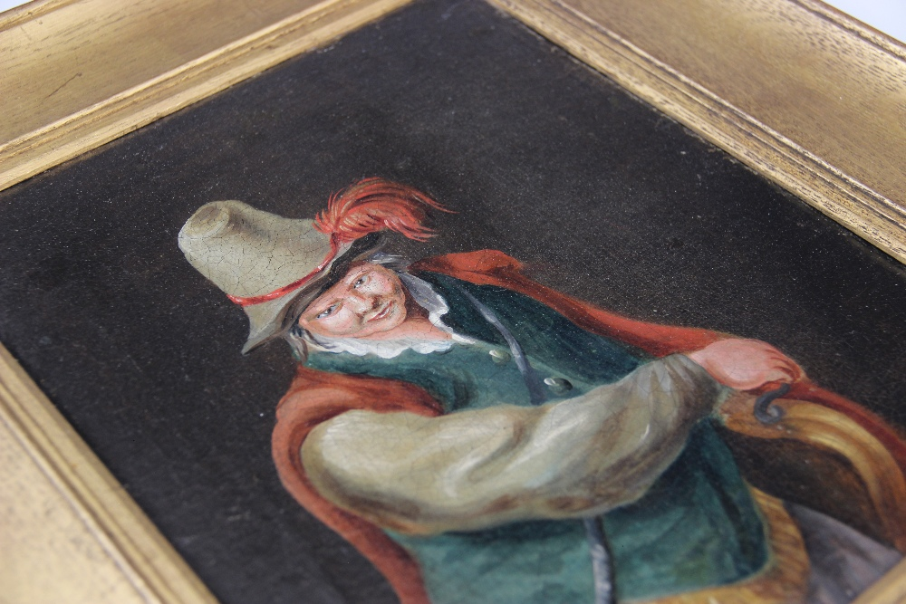 Follower of Teniers The Younger (1610-1690), A 19th century half length portrait of a cavalier, - Image 2 of 3