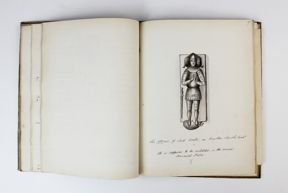 A COLLECTION OF DRAWINGS OF ARMORIAL BEARINGS, FROM PAINTED GLASS, ANCIENT SEALS ETC TOGETHER WITH - Image 13 of 13