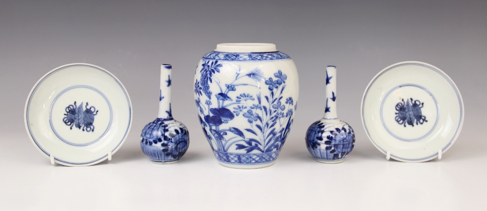A collection of 18th century and later Chinese blue and white porcelain, to include a pair of tea - Image 2 of 3