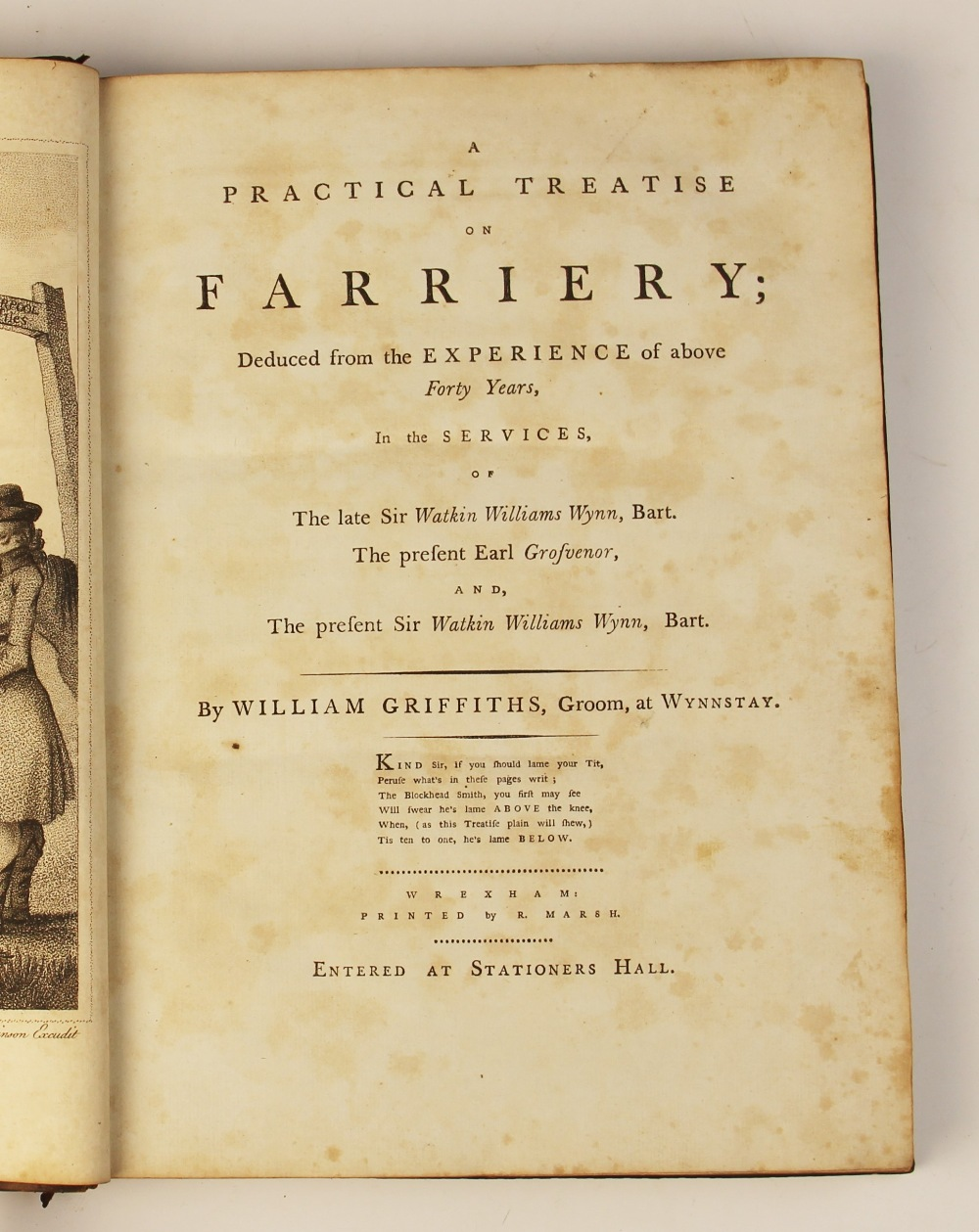 Griffiths (W), A PRACTICAL TREATISE ON FARRIERY, DEDUCED FROM THE EXPERIENCE OF ABOVE FORTY YEARS, - Image 7 of 9