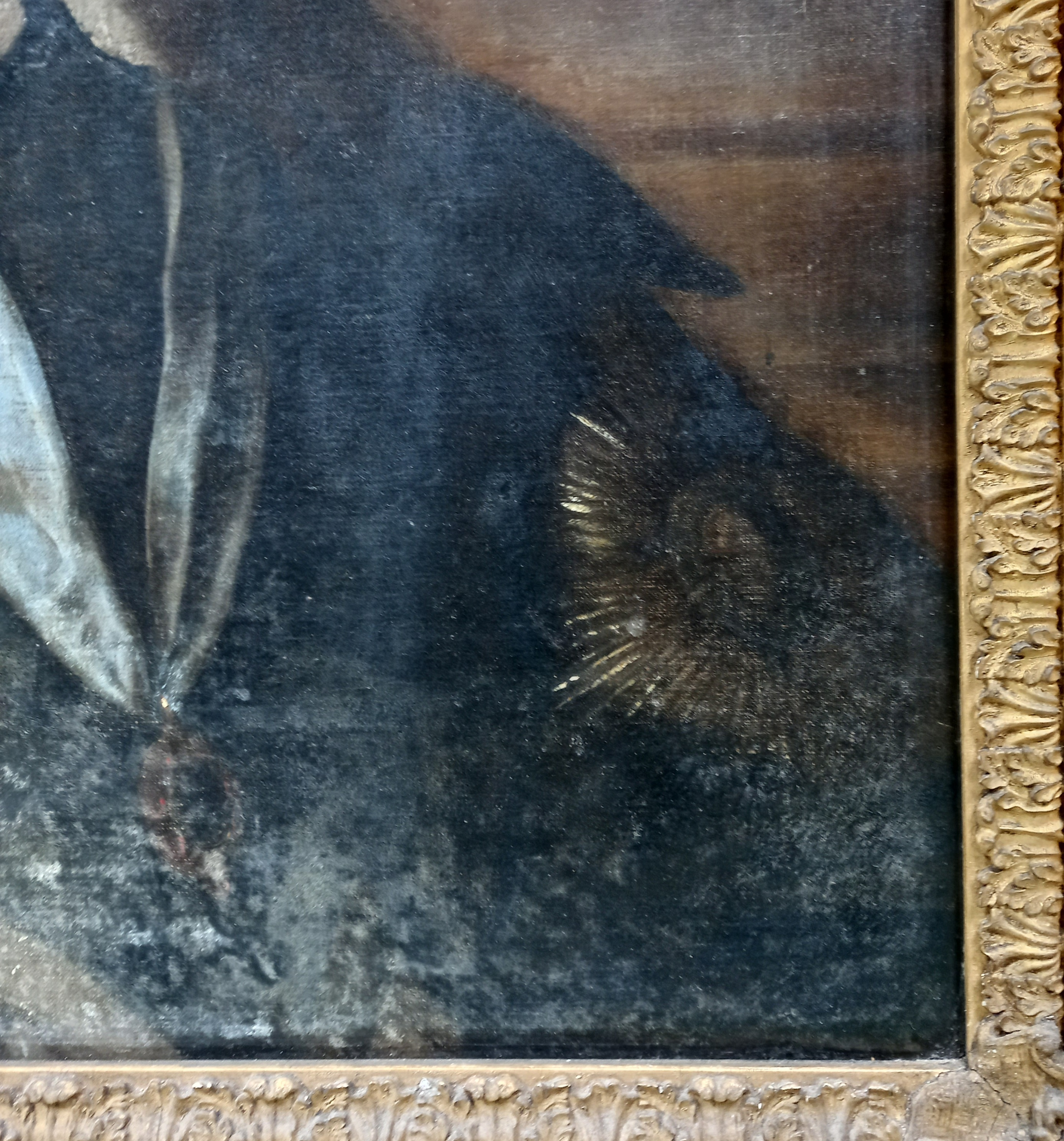 Follower of Sir Antony Van Dyck (1599-1641), Portrait of Charles I, Head and shoulders, with lace - Image 13 of 22