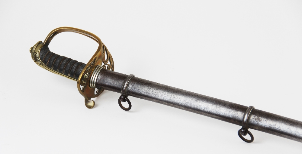 A Victorian 1845 pattern Infantry officer?s sword by Smith & Son, the 81.5cm single edged fullered - Image 2 of 10